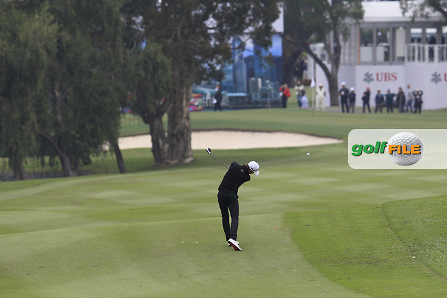 Joakim Lagergren (SWE) on the 3rd fairway during Round 3 of the UBS Hong Kong Open, at Hong Kong golf club, Fanling, Hong Kong. 25/11/2017<br /> Picture: Golffile | Thos Caffrey<br /> <br /> <br /> All photo usage must carry mandatory copyright credit     (&copy; Golffile | Thos Caffrey)