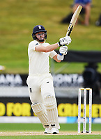 2nd December, Hamilton, New Zealand; England's Ollie Pope hits for 4 runs on day 4 of the 2nd test cricket match between New Zealand and England  at Seddon Park, Hamilton, New Zealand.