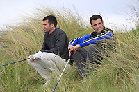 Darragh Crawford (Bundoran) and Jamie Sutherland (Galgorm Castle) waiting at the 16th tee during Round 2 of The East of Ireland Amateur Open Championship in Co. Louth Golf Club, Baltray on Sunday 2nd June 2019.<br /> <br /> Picture:  Thos Caffrey / www.golffile.ie<br /> <br /> All photos usage must carry mandatory copyright credit (© Golffile   Thos Caffrey)