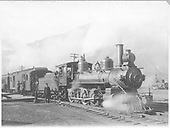 RGS 4-6-0 #25, first, in early 1900's read to leave Durango with passenger train.<br /> RGS  Durango, CO  ca. 1907-1913