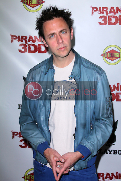 James Gunn<br /> at the &quot;Piranha 3DD&quot; Los Angeles Premiere, Chinese 6, Hollywood, CA 05-29-12<br /> David Edwards/DailyCeleb.com 818-249-4998