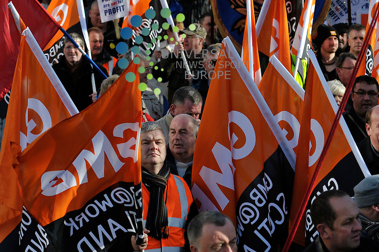 Thousands of trade unionists, community activists and members of the general public march in protest of the austerity measures outlined this week by Prime Minister David Cameron to deal with the countries debt crisis; Edinburgh, Scotland. 23rd October 2010...Picture:Scott Taylor Universal News And Sport (Europe) .All pictures must be credited to www.universalnewsandsport.com. (Office)0844 884 51 22.