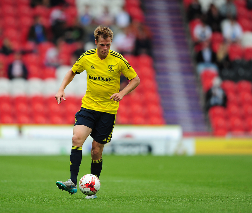 Middlesbrough's Tomas Kalas<br /> <br /> Photographer Chris Vaughan/CameraSport<br /> <br /> Football - Pre-Season Friendly - Doncaster Rovers v Middlesbrough - Saturday 25th July 2015 - Keepmoat Stadium, Doncaster<br /> <br /> &copy; CameraSport - 43 Linden Ave. Countesthorpe. Leicester. England. LE8 5PG - Tel: +44 (0) 116 277 4147 - admin@camerasport.com - www.camerasport.com