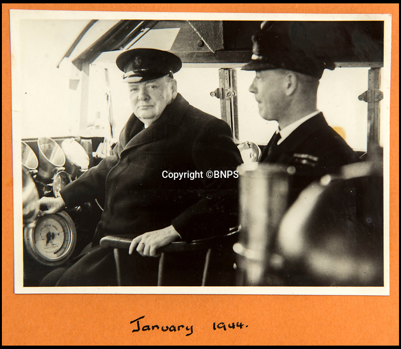 BNPS.co.uk (01202 558833)<br /> Pic: C&amp;T/BNPS<br /> <br /> With Churchill in January 1944.<br /> <br /> A humble secretary's remarkable first hand archive of some of the most momentous events of WW2 has come to light.<br /> <br /> 'Miss Brenda Hart' worked in the Cabinet Office during the last two years of the war, travelling across the globe with the Allied leaders as the conflict drew to a close.<br /> <br /> Her unique collection of photographs and momentoes of Churchill, Stalin and other prominent Second World War figures have been unearthed after more than 70 years.<br /> <br /> The scrapbooks, which also feature Lord Mountbatten and Vyacheslav Molotov, were collated by Brenda Hart who, in her role as secretary to Churchill's chief of staff General Hastings Ismay, enjoyed incredible access to him and other world leaders.<br /> <br /> She also wrote a series of letters which give fascinating insights, including watching Churchill and Stalin shaking hands at the Bolshoi ballet in 1944, being behind Churchill as he walked out on to the balcony at the Ministry of Health to to wave to some 50,000 Londoners on VE day and even visiting Hitler's bombed out Reich Chancellery at the end of the war.<br /> <br /> This unique first hand account, captured in a collection of photos, passes, documents and letters are being sold at C&amp;T auctioneers on15th March with a &pound;1200 estimate.
