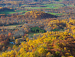 Shenandoah National Park, VA: Autumn colors in the Shenadoah Valley from Signal Knob Overlook on Skyline Drive