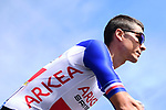 Newly crowned French Champion Warren Barguil (FRA) Team Arkea-Samsic at sign on before Stage 4 of the 2019 Tour de France running 213.5km from Reims to Nancy, France. 9th July 2019.<br /> Picture: ASO/Alex Broadway | Cyclefile<br /> All photos usage must carry mandatory copyright credit (© Cyclefile | ASO/Alex Broadway)