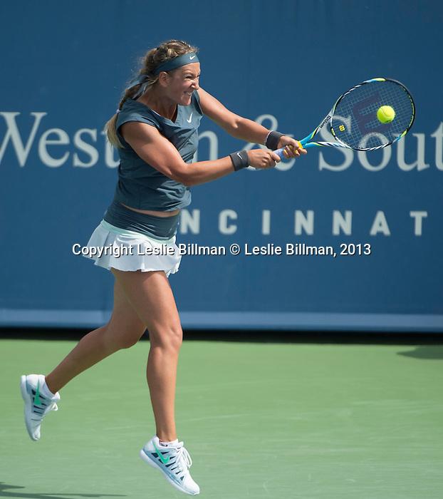 Victoria Azarenka (BLR), defeats Magdalena Rybarikova (SVK) 6-3, 6-4, at the Western & Southern Open in Mason, OH on August 15, 2013.