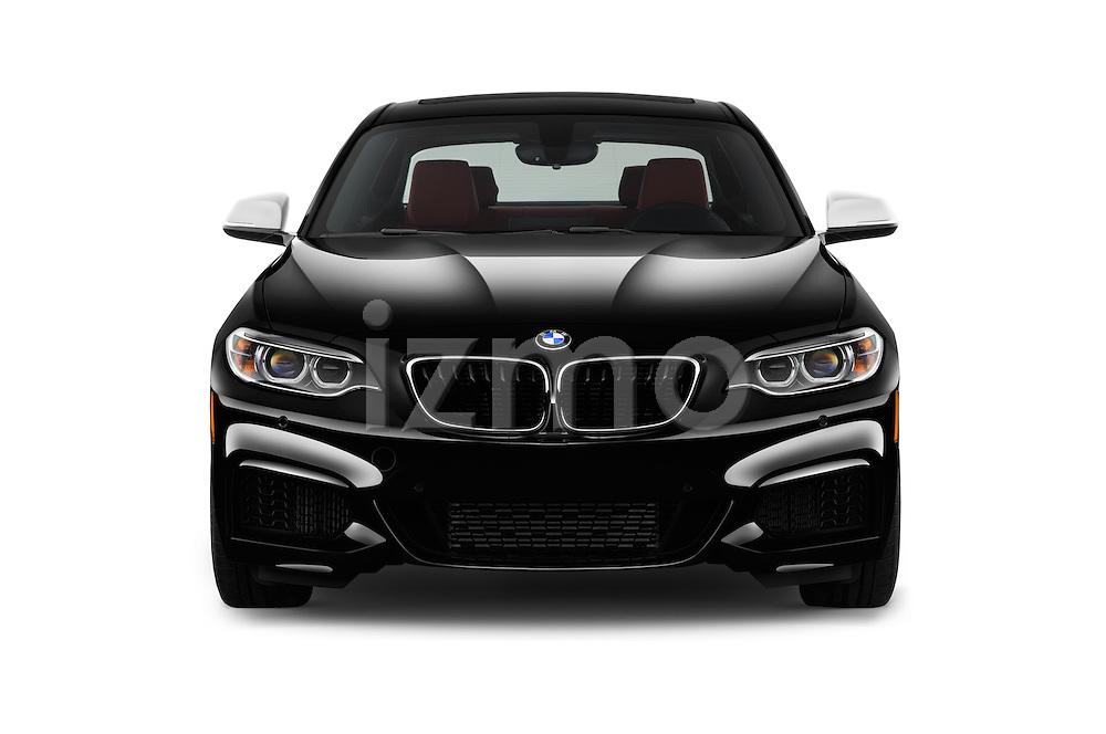Car photography straight front view of a 2017 BMW 2-Series M240i 2 Door Coupe Front View