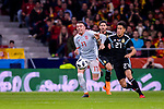 Eduardo Meza of Argentina (R) fights for the ball with Iago Aspas of Spain (L) during the International Friendly 2018 match between Spain and Argentina at Wanda Metropolitano Stadium on 27 March 2018 in Madrid, Spain. Photo by Diego Souto / Power Sport Images