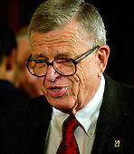 "Washington, D.C. - February 1, 2006 -- Former Counsel to President Nixon, Charles ""Chuck"" Colson arrives in the East Room of the White House for the ceremony where Judge Samuel A. Alito is to be sworn-in as Associate Justice of the United States Supreme Court in Washington, D.C. on February 1, 2006.  Colson, who was known as ""Nixon's hatchet man"" served 7 months of a 3 year prison sentence charges of obstruction of justice.  He is now chairman of the Wilberforce Forum, a conservative Christian political and social think tank and action group active in the promotion of intelligent design in education and in biotechnology and bioethics issues, such as human cloning and stem cell research..Credit: Ron Sachs / CNP"