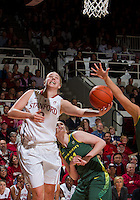 STANFORD, CA - February 26, 2011:  Mikaela Ruef scores in Stanford's 99-60 victory over Oregon at Stanford, California on February 26, 2011.