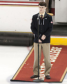 Peter Igo (BC - Manager) -  The Boston College Eagles defeated the visiting Boston University Terriers 5-0 on BC's senior night on Thursday, February 19, 2015, at Kelley Rink in Conte Forum in Chestnut Hill, Massachusetts.