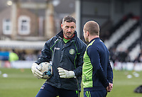 Goalkeeper / Coach Barry Richardson of Wycombe Wanderers ahead of the Sky Bet League 2 match between Grimsby Town and Wycombe Wanderers at Blundell Park, Cleethorpes, England on 4 March 2017. Photo by Andy Rowland / PRiME Media Images.