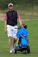 Dylan Brophy (Castleknock) on the 7th fairway during the 1/4 Finals of the AIG Irish Close Championship at the European Club, Brittas Bay, Wicklow, Ireland on Monday 6th August 2018.<br /> Picture: Thos Caffrey / Golffile<br /> <br /> All photo usage must carry mandatory copyright credit (&copy; Golffile | Thos Caffrey)
