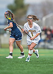 25 April 2015: University of Vermont Catamount Attacker Elena McWright, a Freshman from Baldwin, MD, in action against the University of New Hampshire Wildcats at Virtue Field in Burlington, Vermont. The Lady Catamounts defeated the Lady Wildcats 12-10 in the final game of the season, advancing to the America East playoffs. Mandatory Credit: Ed Wolfstein Photo *** RAW (NEF) Image File Available ***