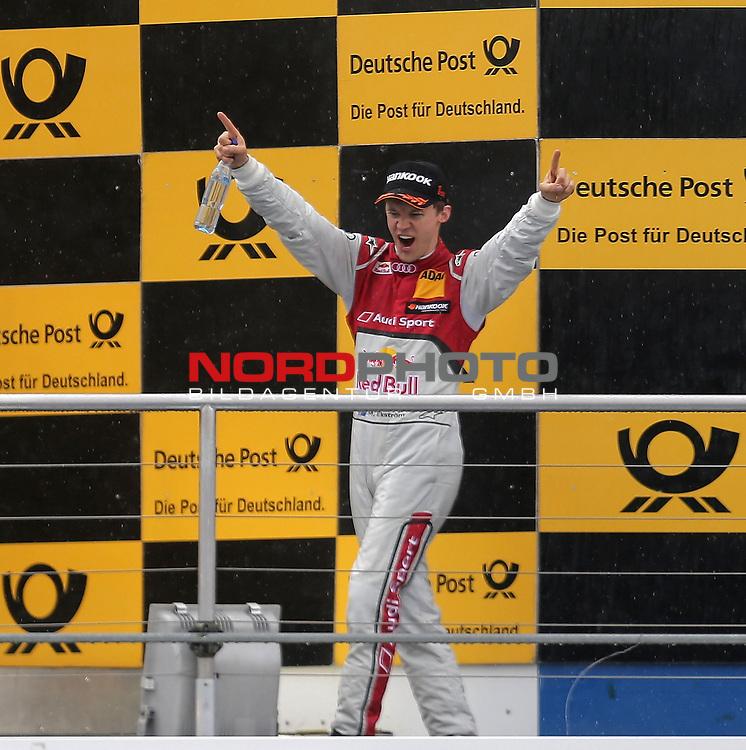 DTM 2015, 01.Lauf Hockenheimring, 01.05. - 03.05.15 <br /> Podium:<br /> Sieger Mattias Ekstr&ouml;m (SWE#5) Audi Sport Team Abt Sportsline Audi RS 5 DTM <br /> <br /> <br /> <br /> Foto &copy; nordphoto /  Bratic
