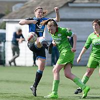 Zulte C - Club Brugge B : Dames Club Brugge B kampioen in 1ste provinciale  met Ina Maertens (links) en Sabrina Mestdagh (r)<br /> Foto David Catry | Sportpix.be