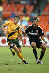 17 July 2004: Andreas Herzog (left) and Mike Petke (right). Los Angeles Galaxy tied DC United 1-1 at RFK Stadium in Washington, DC during a regular season Major League Soccer game..