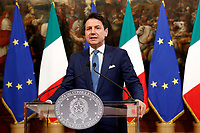 Giuseppe Conte<br /> Rome August 2nd 2019. The Italian Prime Minister  meets the newly elected President of the European Commission.<br /> Foto Samantha Zucchi Insidefoto