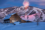 Valentines day fireworks and Torch light parade, Steamboat ski area.