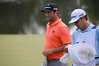 Jon Rahm (ESP) sinks his putt on 9 during round 3 of the WGC FedEx St. Jude Invitational, TPC Southwind, Memphis, Tennessee, USA. 7/27/2019.<br /> Picture Ken Murray / Golffile.ie<br /> <br /> All photo usage must carry mandatory copyright credit (© Golffile | Ken Murray)