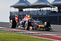 Daniel Ricciardo of Infinit Red Bull Racing driving (3) RB10 during first practice session of  2014 Formula 1 United States Grand Prix, Friday, October 31, 2014 in Austin, Tex. (Mo Khursheed/TFV Media via AP Images)