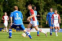 EMMEN - Voetbal, VV Emmen - FC Emmen, voorbereiding seizoen 2018-2019, 07-07-2018,  FC Emmen speler Alexander Bannink met Niek Kroeze