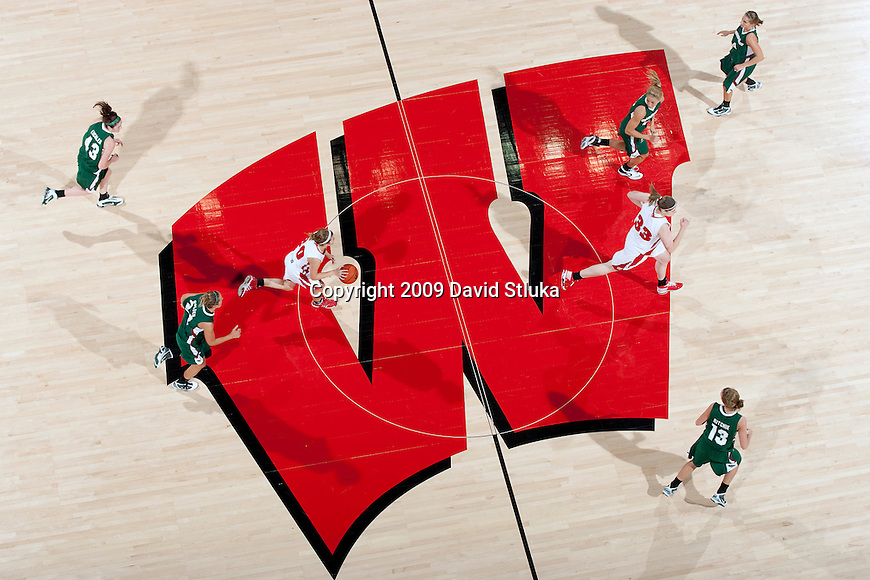 November 24, 2009: The Wisconsin Badgers against the UW-Green Bay Phoenix during an NCAA women's basketball game at the Kohl Center on November 24, 2009 in Madison, Wisconsin. The Phoenix won 60-58. (Photo by David Stluka)