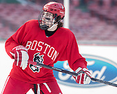 Patrick Curry (BU - 11) - The Boston University Terriers practiced on the rink at Fenway Park on Friday, January 6, 2017.The Boston University Terriers practiced on the rink at Fenway Park on Friday, January 6, 2017.