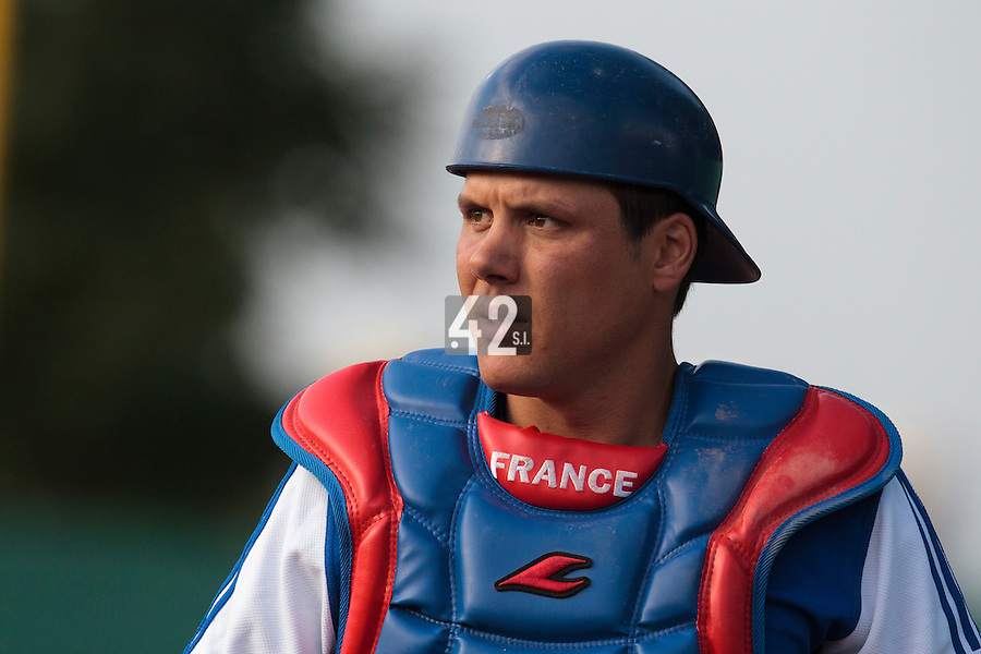 27 july 2010: Boris Marche of France is seen during Germany 10-9 victory over France, in day 5 of the 2010 European Championship Seniors, in Stuttgart, Germany.