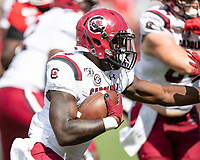 ATHENS, GA - OCTOBER 12: Tavien Feaster #4 of the South Carolina Gamecocks runs with the ball during a game between University of South Carolina Gamecocks and University of Georgia Bulldogs at Sanford Stadium on October 12, 2019 in Athens, Georgia.