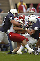 16 September 2006:  Penn State LBs Paul Posluszny (31) and Dan Connor (40) wrap up a ballcarrier.   The Penn State Nittany Lions defeated the Youngstown State Penguins 37-3 September 16, 2006 at Beaver Stadium in State College, PA..