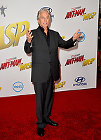 Michael Douglas at the premiere for &quot;Ant-Man and the Wasp&quot; at the El Capitan Theatre, Los Angeles, USA 25 June 2018<br /> Picture: Paul Smith/Featureflash/SilverHub 0208 004 5359 sales@silverhubmedia.com