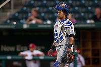 July 21, 2010 Wilin Rosario (20) in action during the MiLB game between the Tulsa Drillers and the Springfield Cardinals at Hammons Field in Springfield Missouri.  Tulsa won 5-3