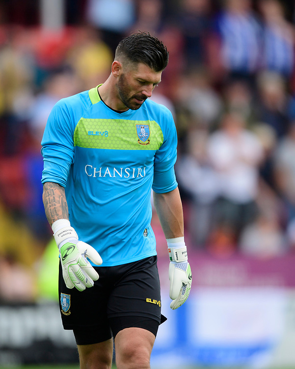 Sheffield Wednesday's Kieren Westwood<br /> <br /> Photographer Chris Vaughan/CameraSport<br /> <br /> Football Pre-Season Friendly - Lincoln City v Sheffield Wednesday - Saturday July 13th 2019 - Sincil Bank - Lincoln<br /> <br /> World Copyright © 2019 CameraSport. All rights reserved. 43 Linden Ave. Countesthorpe. Leicester. England. LE8 5PG - Tel: +44 (0) 116 277 4147 - admin@camerasport.com - www.camerasport.com