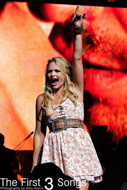 Miranda Lambert performs at Riverbend Music Center on June 15, 2011 in Cincinnati, Ohio.