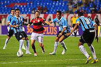ATENCAO EDITOR: FOTO EMBARGADA PARA VEÍCULOS INTERNACIONAIS. - RIO DE JANEIRO, RJ, 16 DE SETEMBRO DE 2012 - CAMPEONATO BRASILEIRO - FLAMENGO X GREMIO - Adryan, jogador do Flamengo, durante partida contra o Gremio, pela 25a rodada do Campeonato Brasileiro, no Stadium Rio (Engenhao), na cidade do Rio de Janeiro, neste domingo, 16. FOTO BRUNO TURANO BRAZIL PHOTO PRESS