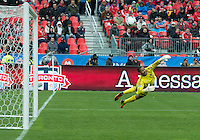 20 October 2012: Toronto FC goalkeeper Freddy Hall #41 in action during an MLS game between the Montreal Impact and Toronto FC at BMO Field in Toronto, Ontario Canada. .The ended in a 0-0 draw..