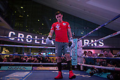 4th October 2017, National Football Museum, Manchester, England; Anthony Crolla and Ricky Burns public workout session; Anthony Crolla in thoughtful mood during his training session