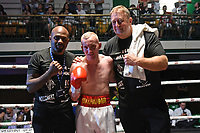 Mark Butler (white shorts) defeats Joe Beedon during a Boxing Show at York Hall on 29th June 2019