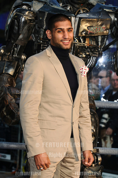 "Amir Khan arrives for the ""Real Steel"" premiere at the Empire Leicester Square, London. 14/09/2011  Picture by: Steve Vas / Featureflash"