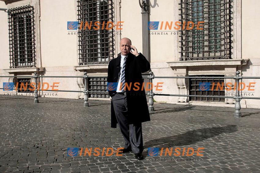 Il Sindaco di Gioia Tauro Renato Bellofiore<br /> Roma 21-01-2014 Palazzo Chigi. Incontro con il Governo sul trasbordo delle armi chimiche siriane nel porto di Gioia Tauro.<br /> Photo Samantha Zucchi Insidefoto