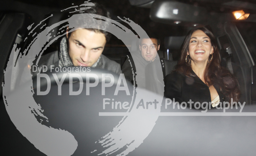 Arsenal FC Xmas Party at L'Atelier Restaurant in West St, London<br /> <br /> Mikel Arteta and Santi Cazorla<br /> <br />  Photo: Iso / DYD Fotografos
