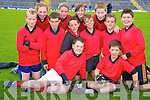 Enjoying the Killarney Garda football blitz in Fitzgerald Stadium, Killarney on Friday were Colm Forde, Jamie O'Donoghue, Jack Curtin, Michael Healy, Niall O'Riordan, Mark O'Shea, Brian Moynihan, Jake Moynihan, Kellie O'Sullivan, Rachel Carey, Lynn Brosnan and Denis Walsh, Anabla National School.