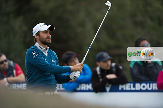 Romain Langasque (FRA) during round 3 at the ISPS Handa World Cup of Golf, from Kingston heath Golf Club, Melbourne Australia. 26/11/2016<br /> Picture: Golffile | Anthony Powter<br /> <br /> <br /> All photo usage must carry mandatory copyright credit (&copy; Golffile | Anthony Powter)