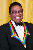 Kennedy Center Honoree Herbie Hancock attends a reception at the White House for the 2013 Kennedy Center Honorees on December 8, 2013 in Washington, DC. The honorees this year include: opera singer Martina Arroyo, jazz musician Herbie Hancock, musician Billy Joel, actress Shirley MacLaine and musician Carlos Santana. <br /> Credit: Kristoffer Tripplaar  / Pool via CNP