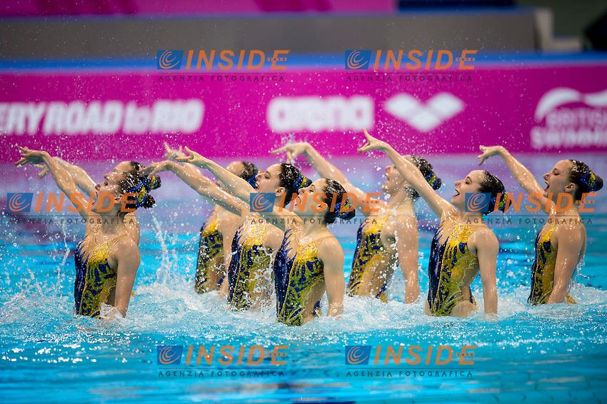 Team SUI Switzerland<br /> London, Queen Elizabeth II Olympic Park Pool <br /> LEN 2016 European Aquatics Elite Championships <br /> Team Technical final<br /> Day 01 09-05-2016<br /> Photo Giorgio Scala/Deepbluemedia/Insidefoto