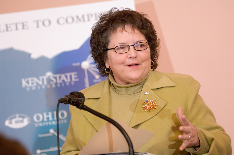 KENT STATE, OHIO UNIVERSITY TO ANNOUNCE.PARTNERSHIP TO MAKE HIGHER EDUCATION MORE ACCESSIBLE..Contact: Ron Kirksey, Kent State, (330) 672-8535; Jack Jeffery, Ohio University, (740) 597-1793..Kent State University and Ohio University officials will announce an important partnership that will make higher education more accessible to as many as 450,000 Ohioans during a press conference at 9:30 a.m. Tuesday, March 14, in the Southeast Passageway of the Ohio Statehouse, 77 South High St. in Columbus. ..Kent State President Carol A. Cartwright and Ohio University President Roderick J. McDavis will be among the speakers and will both be available for interviews. They will be joined by state Rep. Shawn Webster, chairman of the Higher Education Funding Study Council, and state Sen. Joy Padgett, chairwoman of the Senate Education Committee.