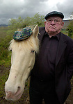PEIG BACK WHERE SHE BELONGS...<br />South Kerry Deputy Jackie Healy-Rae was over the moon when Gardai returned his mare 'Peig' ,which was located after a tip off to Gardai, tied to a tree in the North Kerry area. The albino pony was stolen over a month ago and was reunited with its owner yesterday looking deshevelled and weak. No ransom was paid and the pony is now being cared for in a secret location.<br />Picture by Don MacMonagle