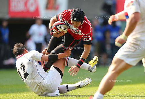 Yoshikazu Fujita (JPN), .May 4, 2013 - Rugby : .HSBC Asian 5 Nations 2013 .match between Japan 64-5 South Korea .at Chichibunomiya Rugby Stadium, Tokyo, Japan. .(Photo by Daiju Kitamura/AFLO SPORT)